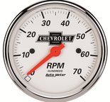 """Autometer Gauge, Tachometer, 3 1/8"""", 7k RPM, In-Dash, Chevrolet Heritage Bowtie 1398-00408"""