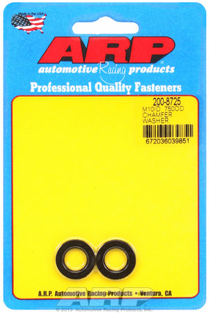 ARP M10 ID .750 OD chamfer black washers 2008725