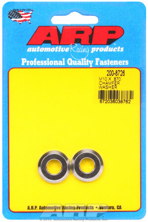 ARP M10 ID .870 OD chamfer black washers 2008726