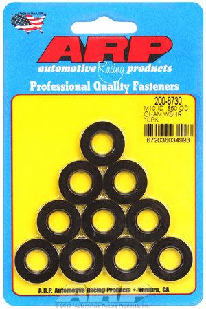ARP M10 ID .850 OD chamfer black washers 2008730