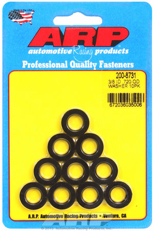 ARP 3/8 ID .720 OD black washers 2008731