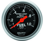 "Autometer Gauge, Fuel Pressure, 2 1/16"", 1.0kg/cm2, Mechanical, Sport-Comp 3311-J"