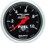 "Autometer Gauge, Fuel Pressure, 2 1/16"", 1.0BAR, Mechanical, Sport-Comp 3311-M"