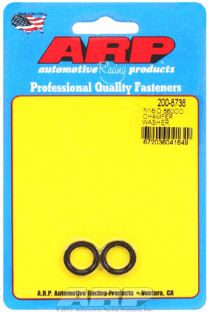 ARP 7/16 ID .660 OD  chamfer black washers 2008738