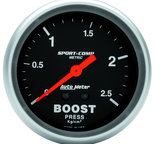 "Autometer Gauge, Boost, 2 5/8"", 2.5kg/cm2, Mechanical, Sport-Comp 3404-J"