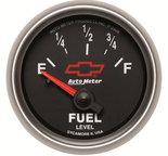 """Autometer Gauge, Fuel Level, 2 1/16"""", 0?E to 90?F, Elec, GM Bowtie Black 3613-00406"""