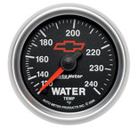 "Autometer Gauge, Water Temp, 2 1/16"", 120-240şF, Mechanical, GM Bowtie Black 3632-00406"