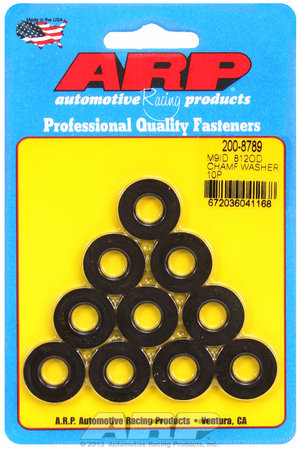 ARP M9 ID .812 OD chamfer black washers 2008789