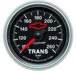 "Autometer Gauge, Trans. Temp, 2 1/16"", 100-260şF, Digital Stepper Motor, GM Bowtie Black 3657-00406"