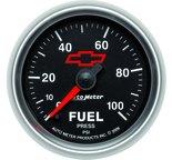 "Autometer Gauge, Fuel Pressure, 2 1/16"", 100psi, Digital Stepper Motor, GM Bowtie Black 3663-00406"