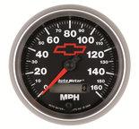 "Autometer Gauge, Speedometer, 3 3/8"", 160mph, Elec. Programmable, GM Bowtie Black 3688-00406"