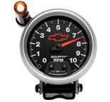 """Autometer Gauge, Tachometer, 3 3/4"""", 10k RPM, Pedestal w/ ext. Quick-Lite, GM Bowtie Black 3690-00406"""