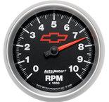 """Autometer Gauge, Tachometer, 3 3/8"""", 10k RPM, In-Dash, GM Bowtie Black 3697-00406"""