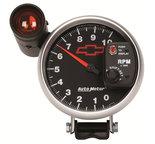 """Autometer Gauge, Tachometer, 5"""", 10k RPM, Pedestal w/ ext. Shift-Lite, GM Bowtie Black 3699-00406"""