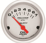 "Autometer Gauge, Oil Pressure, 2 1/16"", 7 BAR, Electric, Ultra-Lite 4327-M"