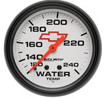 "Autometer Gauge, Water Temp, 2 5/8"", 120-240şF, Mechanical, GM Bowtie White 5832-00406"