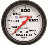 "Autometer Gauge, Water Temp, 2 5/8"", 120-240şF, Mechanical, GM Perf. White 5832-00407"