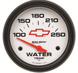 "Autometer Gauge, Water Temp, 2 5/8"", 100-250şF, Electric, GM Bowtie White 5837-00406"