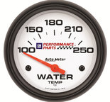 "Autometer Gauge, Water Temp, 2 5/8"", 100-250şF, Electric, GM Perf. White 5837-00407"