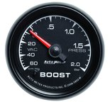 "Autometer Gauge, Vac/Boost, 2 1/16"", 60cmHg-2.0BAR, Mechanical, ES 5903-M"