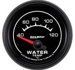 """Autometer Gauge, Water Temp, 2 1/16"""", 40-120şF, Electric, ES 5937-M"""