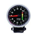 "Autometer Gauge, Tach, 3 3/4"", 10k RPM, w/Pit Road Speed Lights & Peak Mem, Elite 6606-05705"