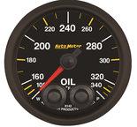 "Autometer Gauge, Oil Temp, 2 1/16"", 340şF, Stepper Motor w/Peak & Warn, NASCAR CAN 8142-05702"