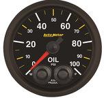 "Autometer Gauge, Oil Press, 2 1/16"", 100psi, Stepper Motor w/Peak & Warn, NASCAR CAN 8152-05702"