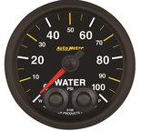 "Autometer Gauge, Water Press, 2 1/16"", 100psi, Stepper Motor w/Peak & Warn, NASCAR CAN 8168-05702"