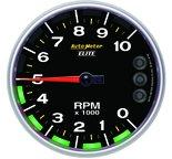 "Autometer Gauge, Tach, 5"", 10k RPM, Carbon Fiber, w/ Pit Road Lights & Peak, NASCAR CAN 8199-05702"