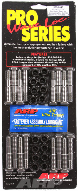"ARP BB Chevy 7/16"" pro-series rod bolt kit 2356403"