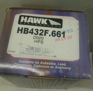 Hawk HPS Bromsbelägg Fram Subaru Models (2003-2005 2008-2014 WRX)