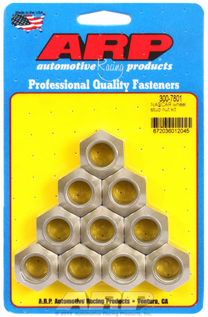 ARP 5/8-18 NASCAR wheel stud nut kit 3007801