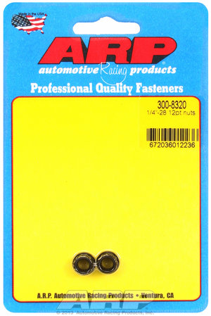 ARP 1/4-28 12pt nut kit 3008320
