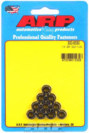 ARP 1/4-28 12pt nut kit 3008330