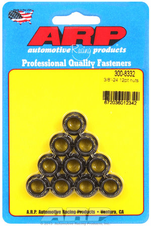 ARP 3/8-24 12pt nut kit 3008332