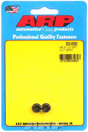 ARP M6 X 1.00 12pt nut kit 3008380
