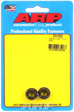 ARP 3/8-24 1/2 socket, .645 flange OD, 12pt nut kit 3008382
