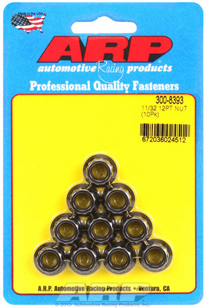 ARP 11/32-24 12pt nut kit 3008393