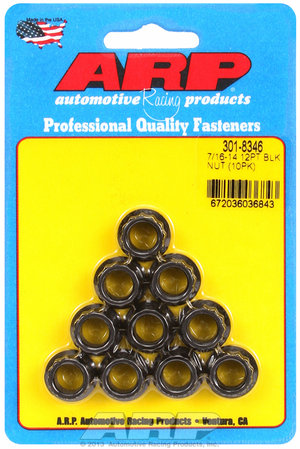 ARP 7/16-14 12pt nut kit 3018346