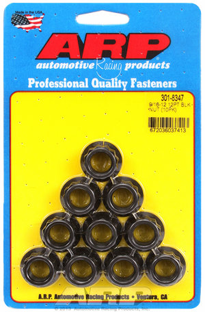 ARP 9/16-12 12pt nut kit 3018347