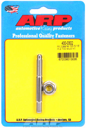 ARP 5/16 x 2.700 SS air cleaner stud kit 4000302