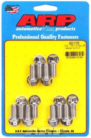 ARP 3/8 x .750 drilled SS header bolt kit 4001103