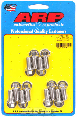 ARP 3/8 x .750 SS hex header bolt kit 4001107