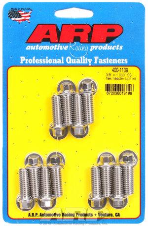 ARP 3/8 x 1.000 SS hex header bolt kit 4001109