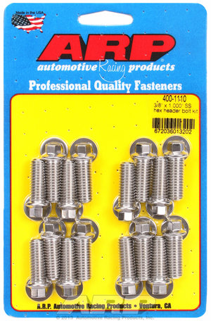 ARP 3/8 x 1.000 SS hex header bolt kit 4001110