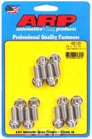 ARP 3/8 x .750 SS 12pt header bolt kit 4001201