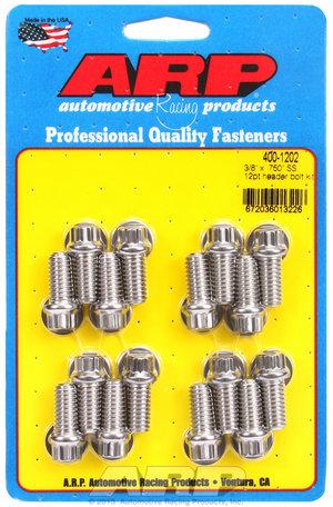ARP 3/8 x .750 SS 12pt header bolt kit 4001202