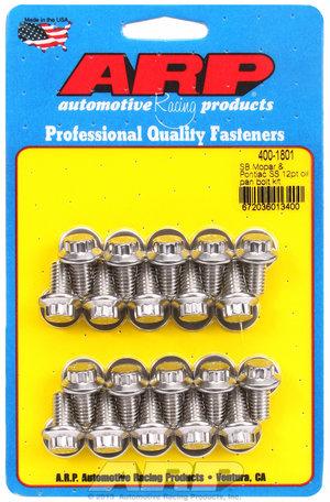 ARP SB Mopar & Pontiac SS 12pt oil pan bolt kit 4001801