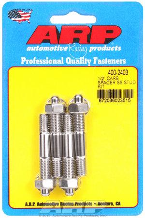 "ARP 1/2"" Spacer SS carburetor stud kit 4002403"